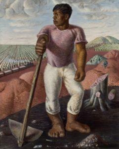 Cândido Portinari, O Lavrador de Café, 1934, óleo sobre tela. Acervo MASP